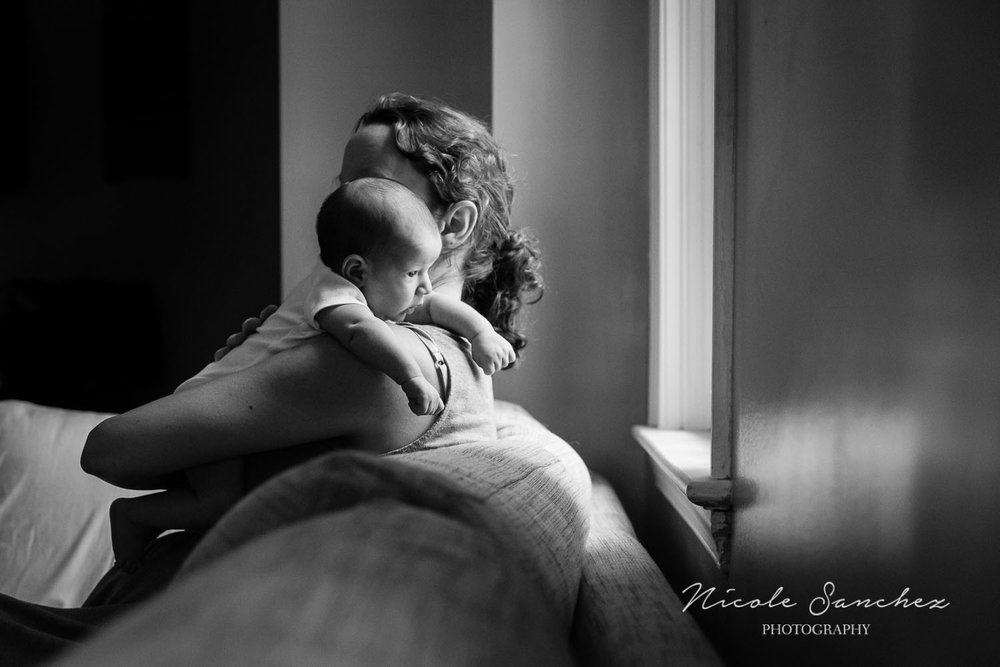 Self-portrait with baby | Northern Virginia Lifestyle Photographer
