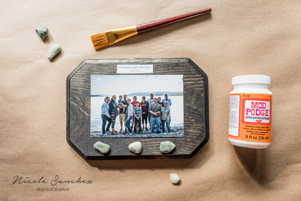 materials in place for making photo display | Northern Virginia documentary family photographer