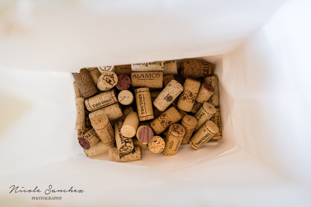 Bag of wine corks by Northern Virginia Family Photographer Nicole Sanchez