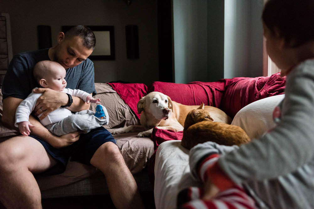 A family image that tells a story by Northern Virginia Family Photographer Nicole Sanchez