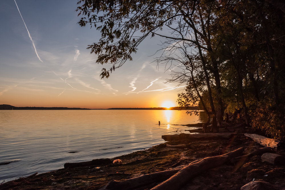 potomac river landscape sunset by northern virginia family photographer nicole sanchez