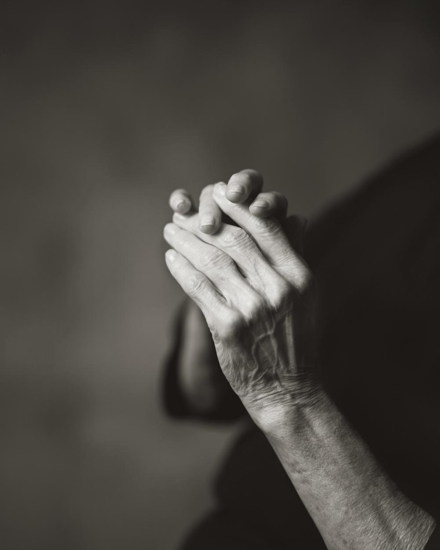 MY MOTHER'S HANDS, WITH ARTHRITIS