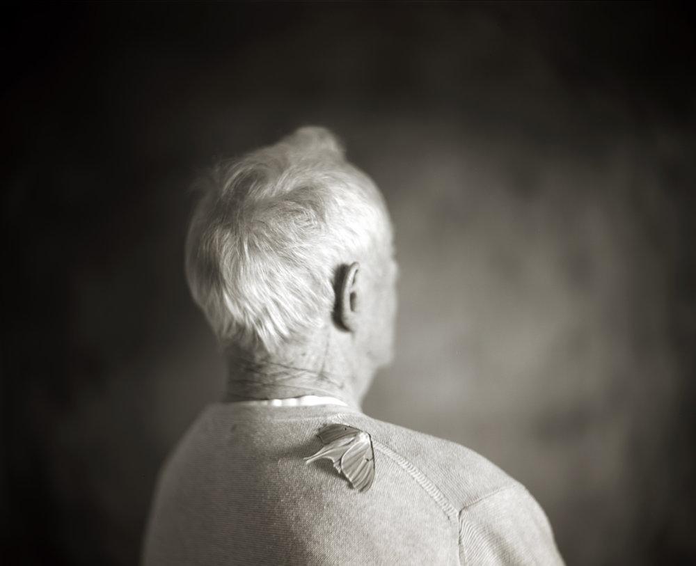 ETERNITY, DAD AT 91  TEA TONED GELATIN SILVER PHOTOGRAPH