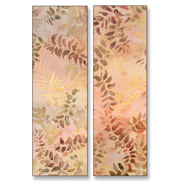 "Freedom Ferns, 12x36"" Acrylic on Stretched Canvas"