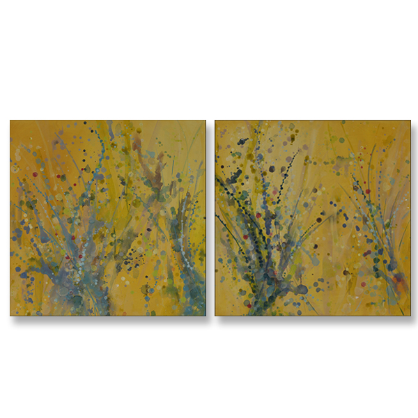 "Golden Grace I and II 24x24"" Acrylic on Canvas"