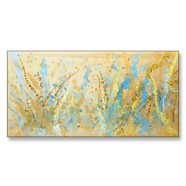 "Golden Fields 36x18"" Acrylic on Canvas"