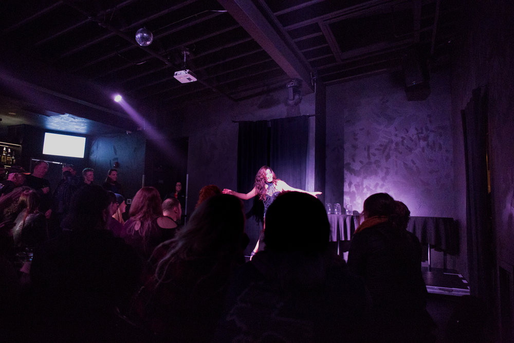 "Nicky Serene performs at The Wayward Lamb, Eugene, Oregon's only gay/queer bar. Nicky and her drag troupe ""The Glamazons"" performed there every Friday until the bar's abrupt closure in February of 2018."