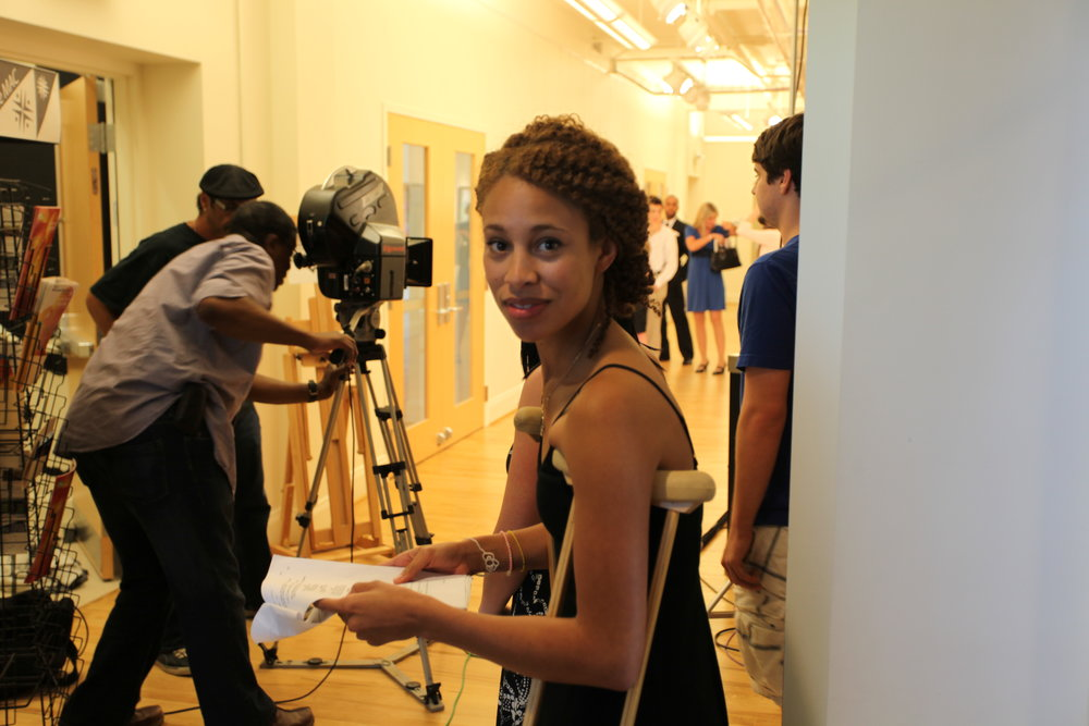 Actress Brooklyn Sabino Smith w Director Nelson in BG..JPG