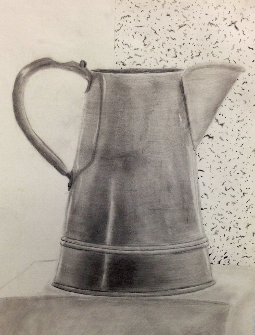 "Watering Can, Graphite and Drawing Paper, 24"" x 18"""