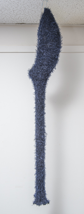 "Aftermath B, Eyelash yarn, Steel, 61""x7""x8"""