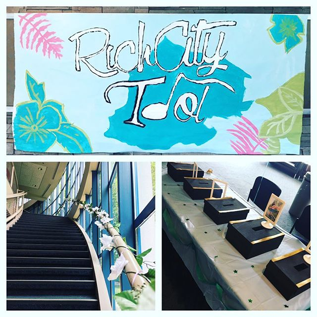 #RichCity Idol is TONIGHT!  Set up is underway for one of the hottest shows of the year!  Tickets are only $12, and can be bought at the door from 6:30pm - 7:00pm at @gateway_theatre  Don't miss out!