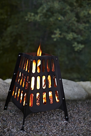 Ikea Broko black fire basket. £25,  www.ikea.com