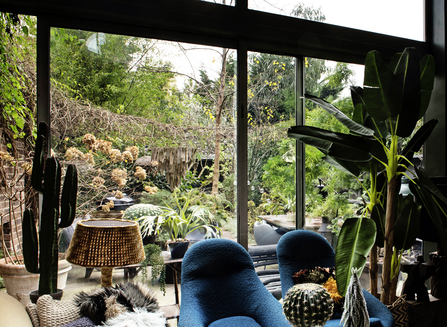 Abigail's garden is a coherent outdoor extension of her home.