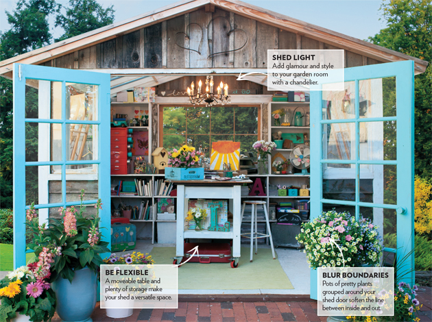 Image from: She Sheds: A Room Of Your Own by Erica Kotite