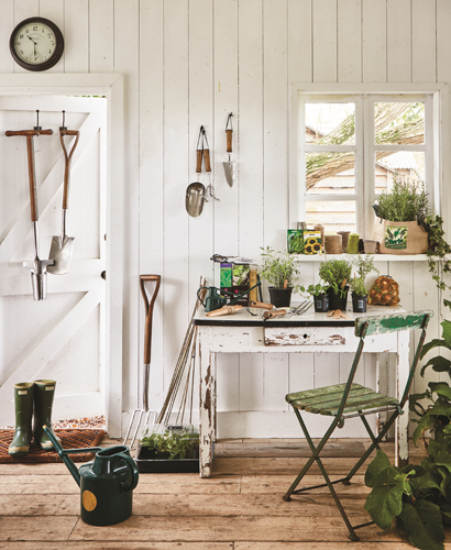 TREAT YOURSELF to the finishing touches via Moulton Mill tools, Outdoor Wall Clock and Thermometer and watering cans, all from  www.Dobbies.com