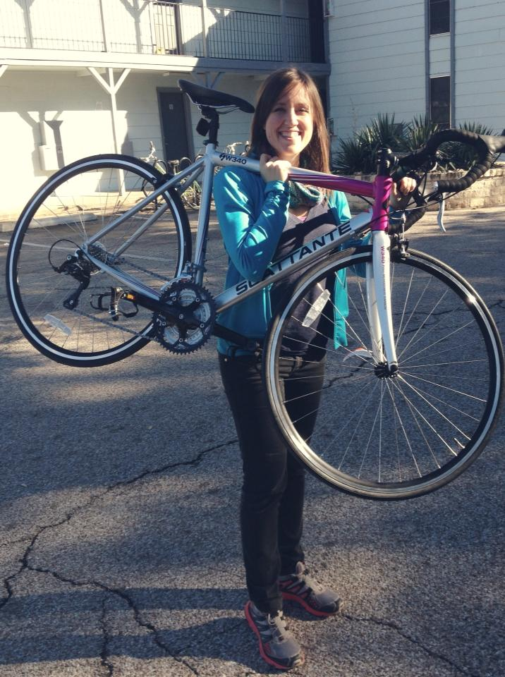Anthony's Christmas gift to me - a huge step towards acheiving my triathlon goal!