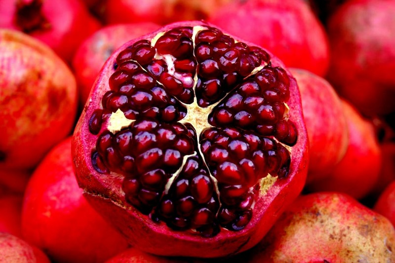 juicy pomegranate with seeds