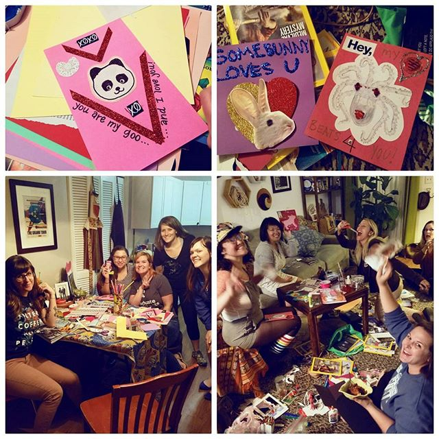 Scenes from my #galentines card making party! What did you do to celebrate your lady friends?