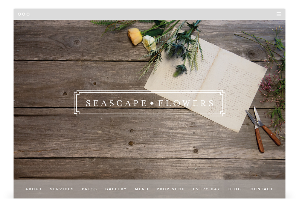 Second + West Website Development for Seascape Flowers