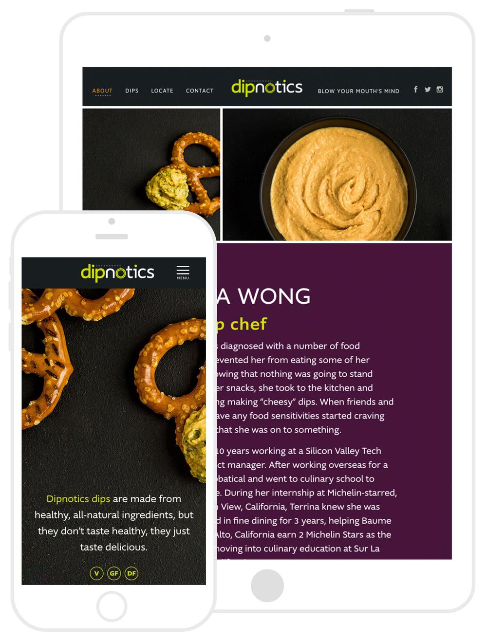 Dipnotics Website Development by Second + West
