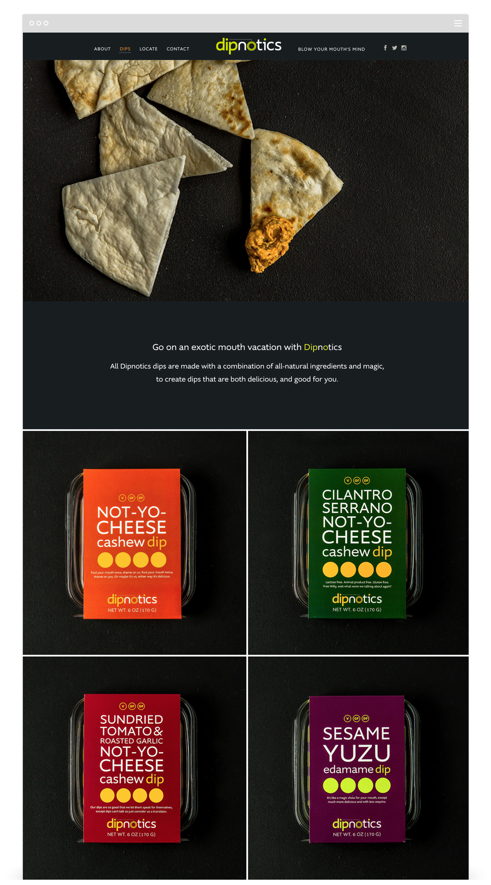 Website Development for Dipnotics by Second + West