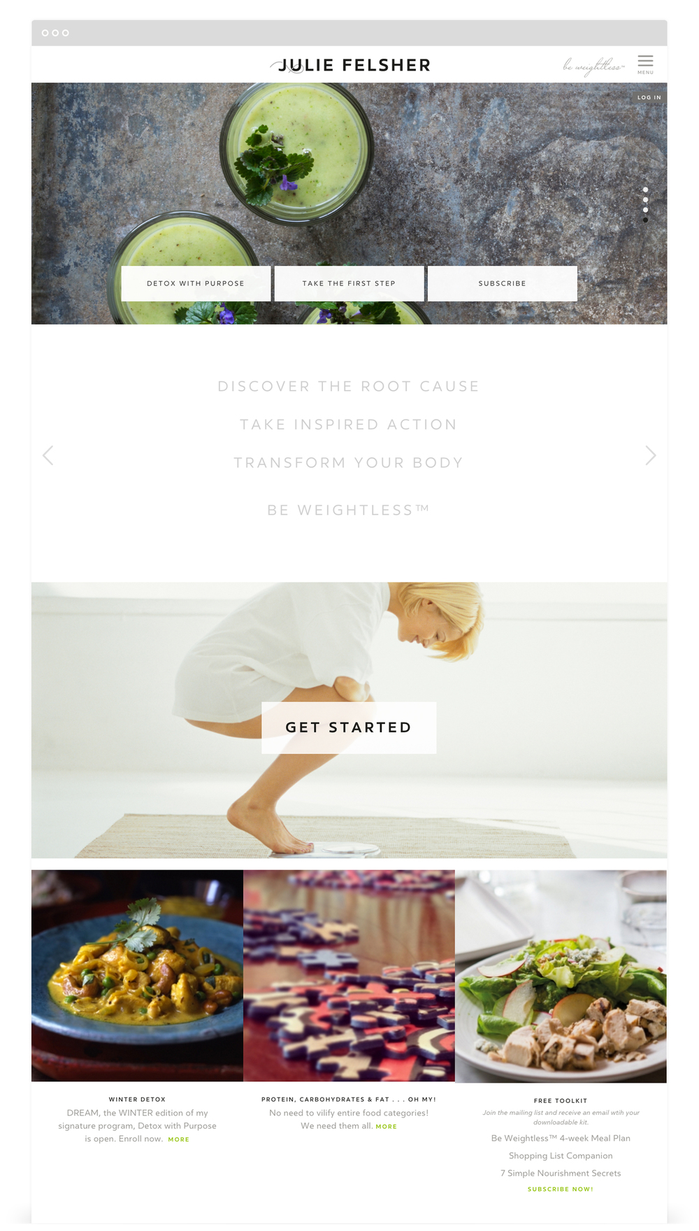 Second + West Website Development for Julie Felsher