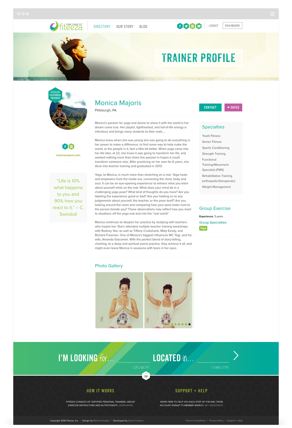 Website Development for Fiteeza by Second + West