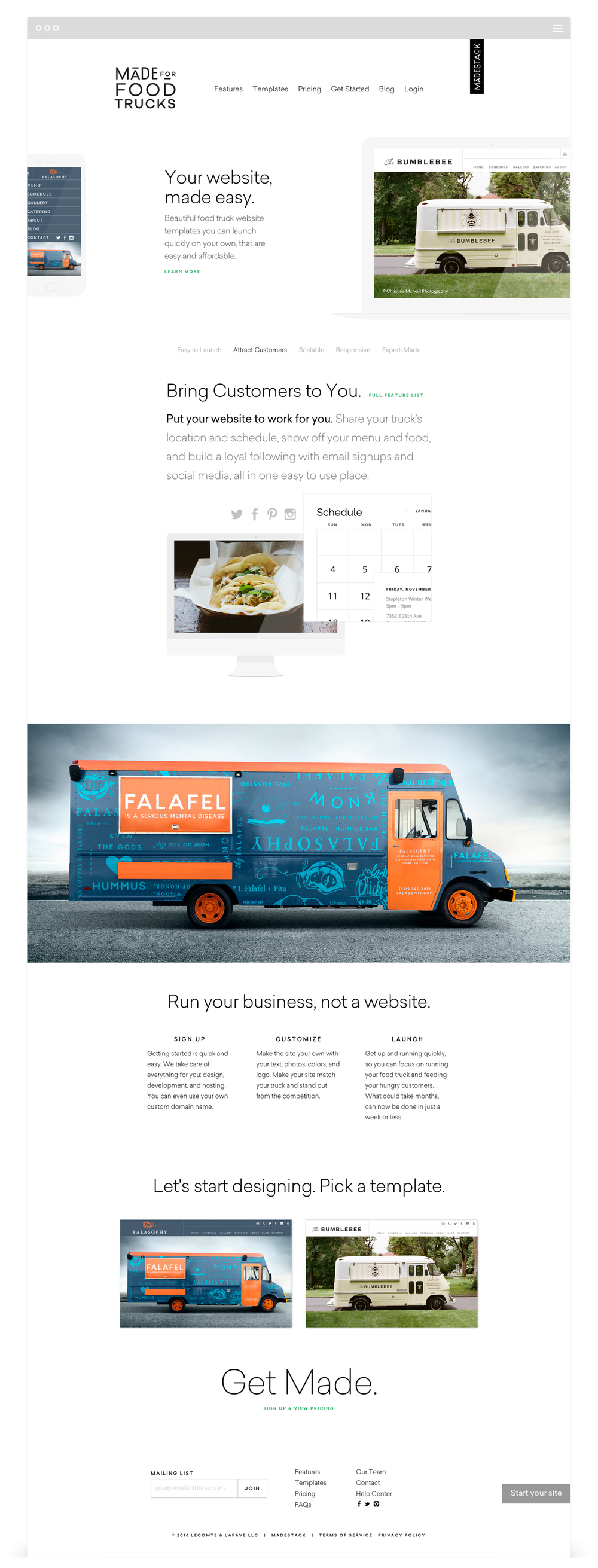 Website Development for Made for Food Trucks by Second + West