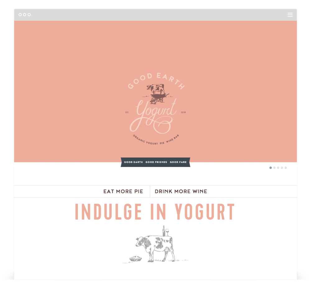 Website Development by Second + West for Good Earth Yogurt