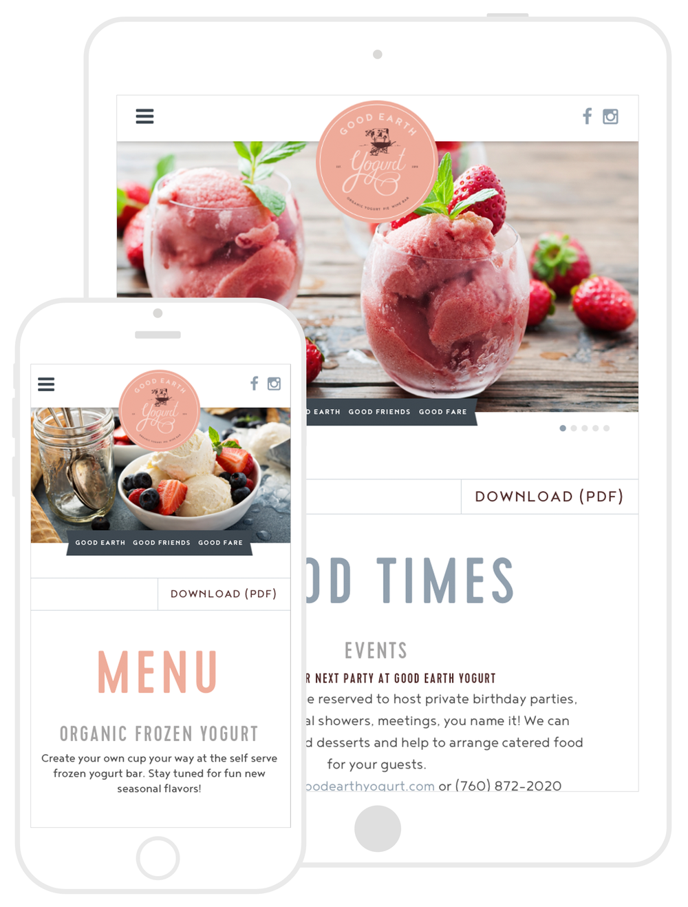 Responsive Website Design & Development by Second + West for Good Earth Yogurt