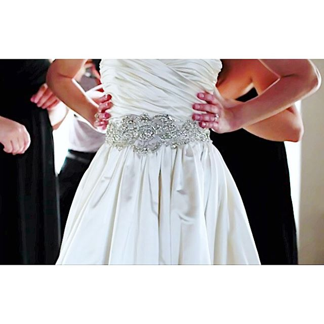 An embellished bridal gown makes the day a little brighter! This is a still from @loydcalomay of a wedding I coordinated at the impeccable @vibianaevents 💫 @mintjulepinc #dressdetails