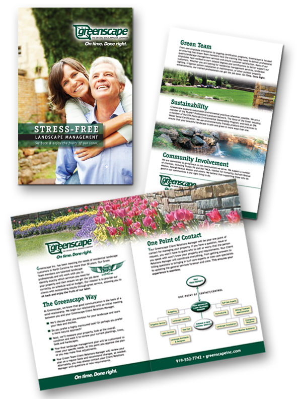 Residential landscape management brochure