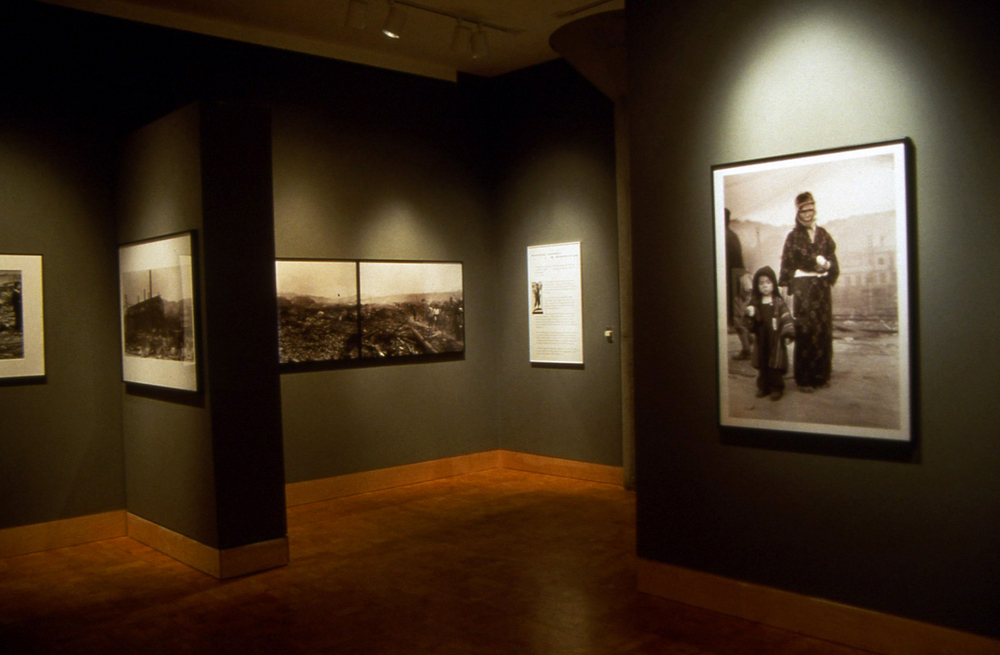 Installation view of  Nagasaki Journey  at the Friends of Photography, San Francisco