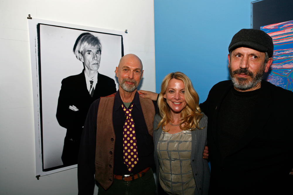 L-R: John Bonath, Valere Harris Shane, Mark Sink. Photo of Andy Warhol by Mark Sink.