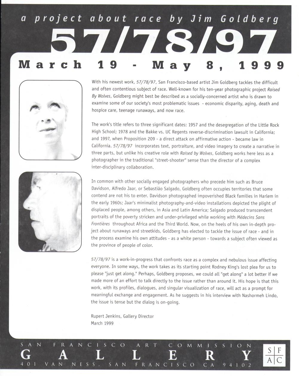 SFAC Gallery, 1999