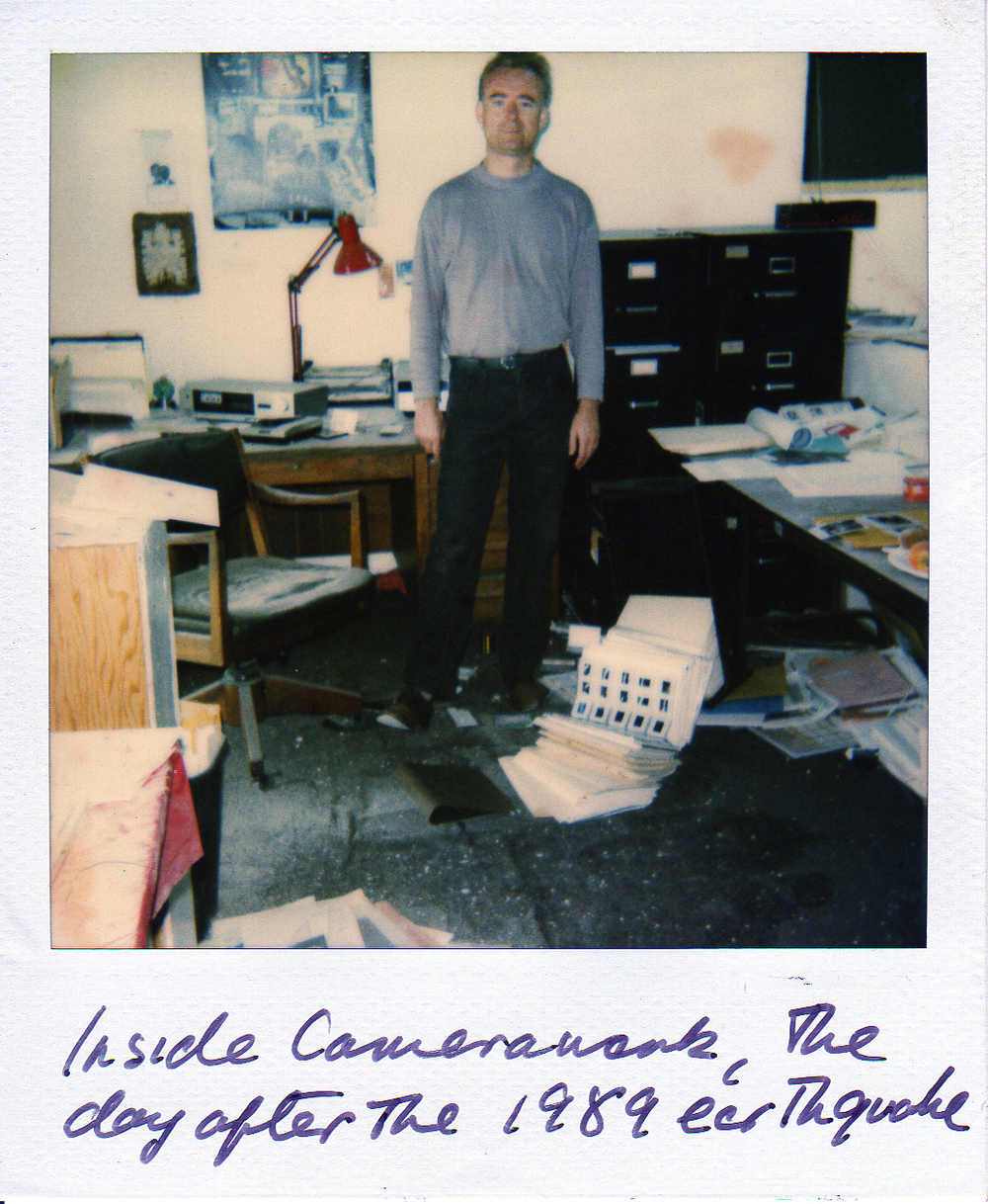 SF Camerawork, 1989: Our office the day after the earthquake