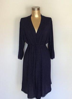 Addiction modal short wrap robe with set-in belt. 0ae05c252