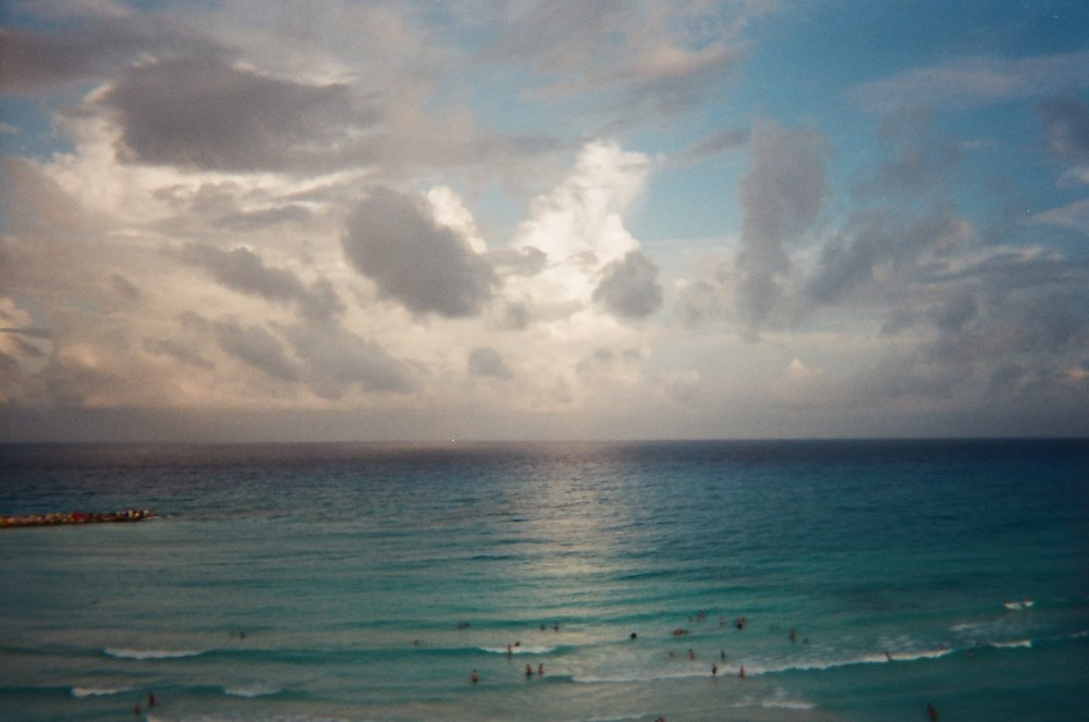 Cancun Mexico at sunset