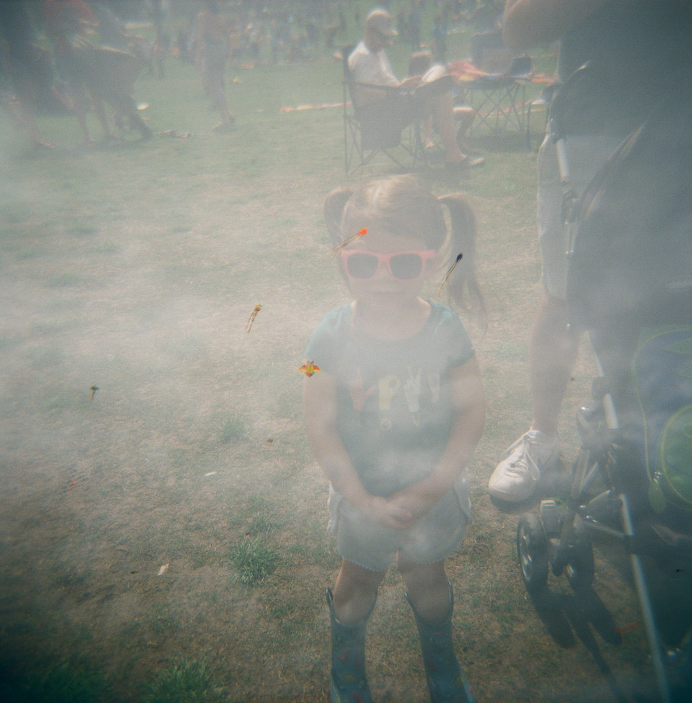 120mm toy camera, double exposure