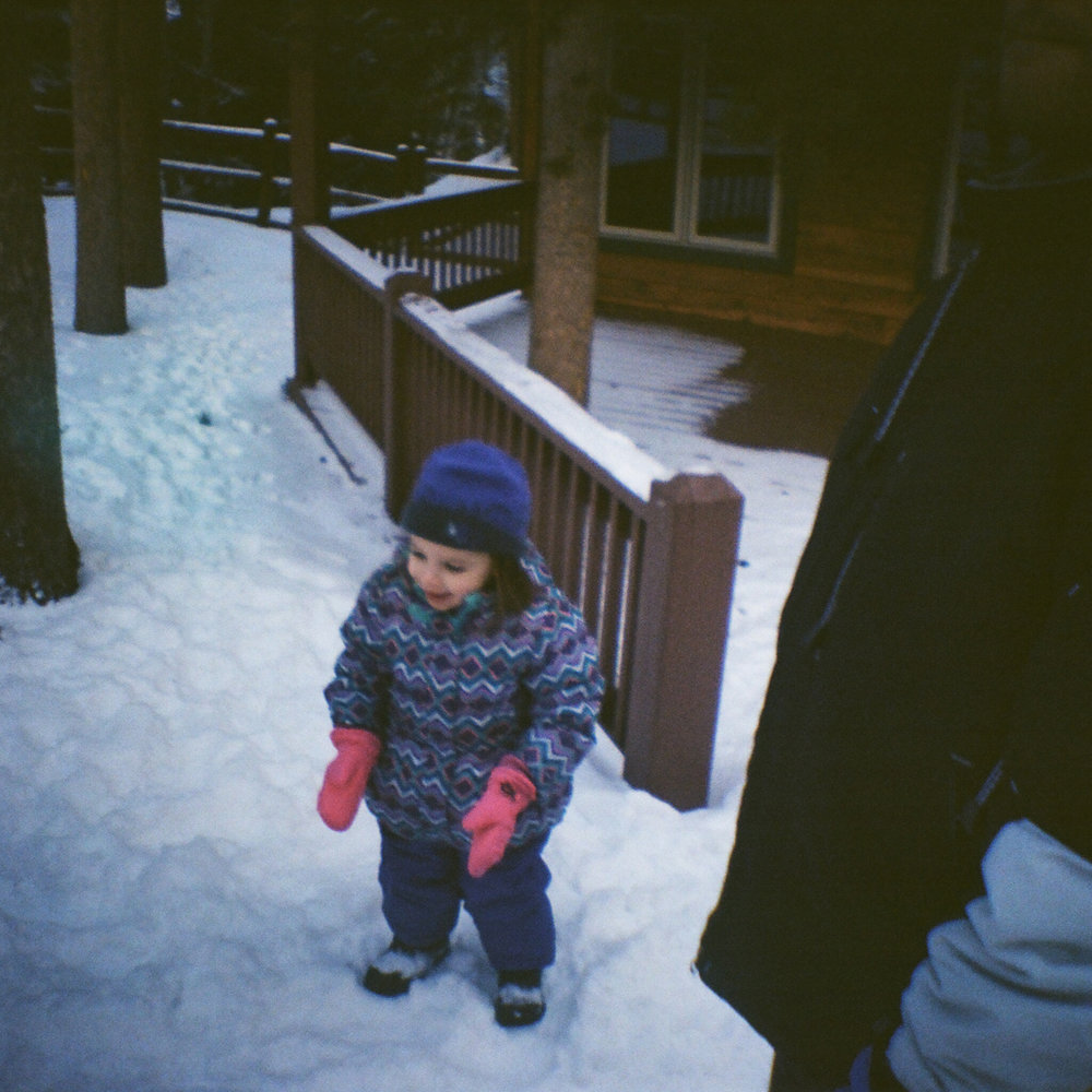 Lomography 100 film in the snow