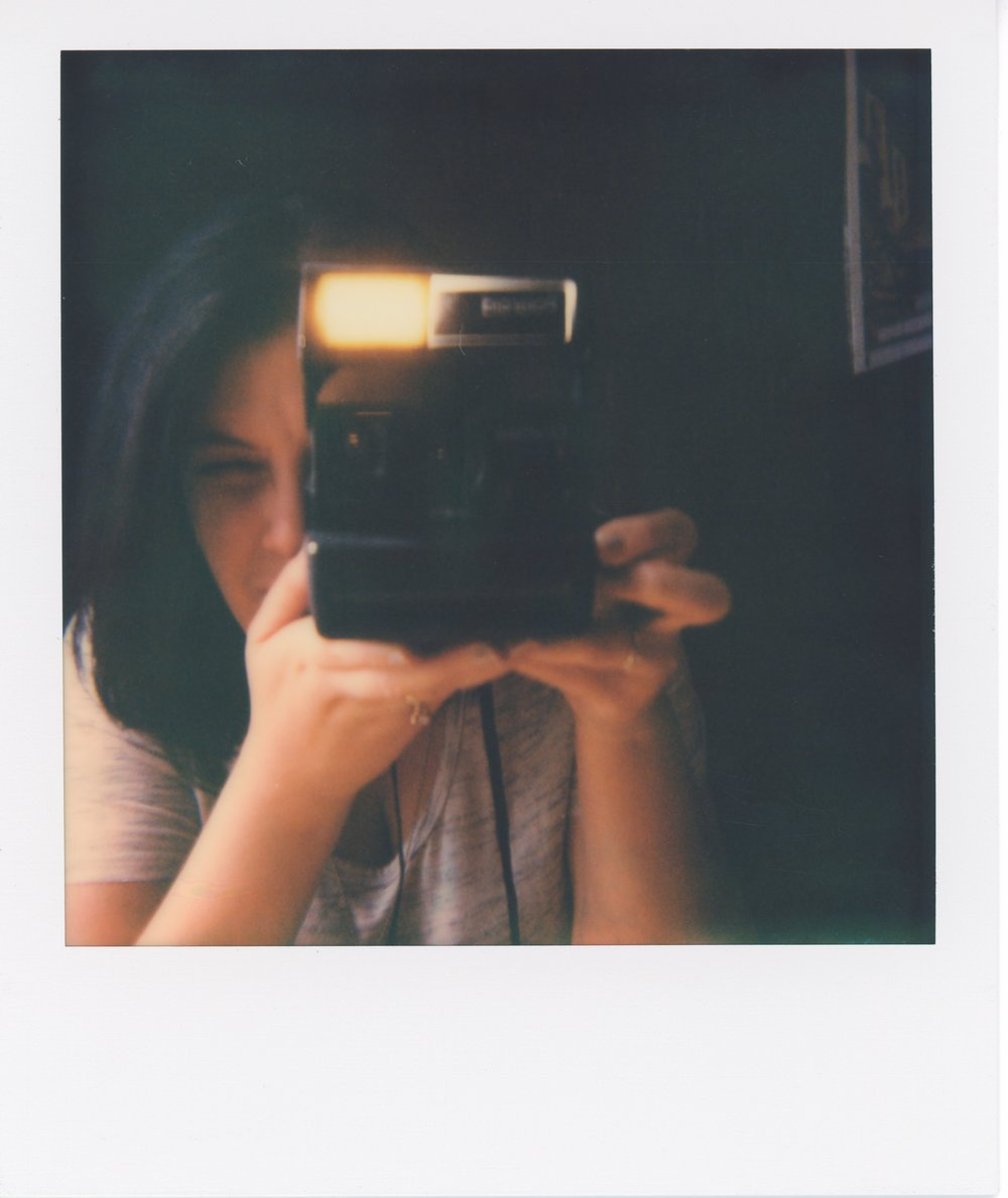 self portrait polaroid