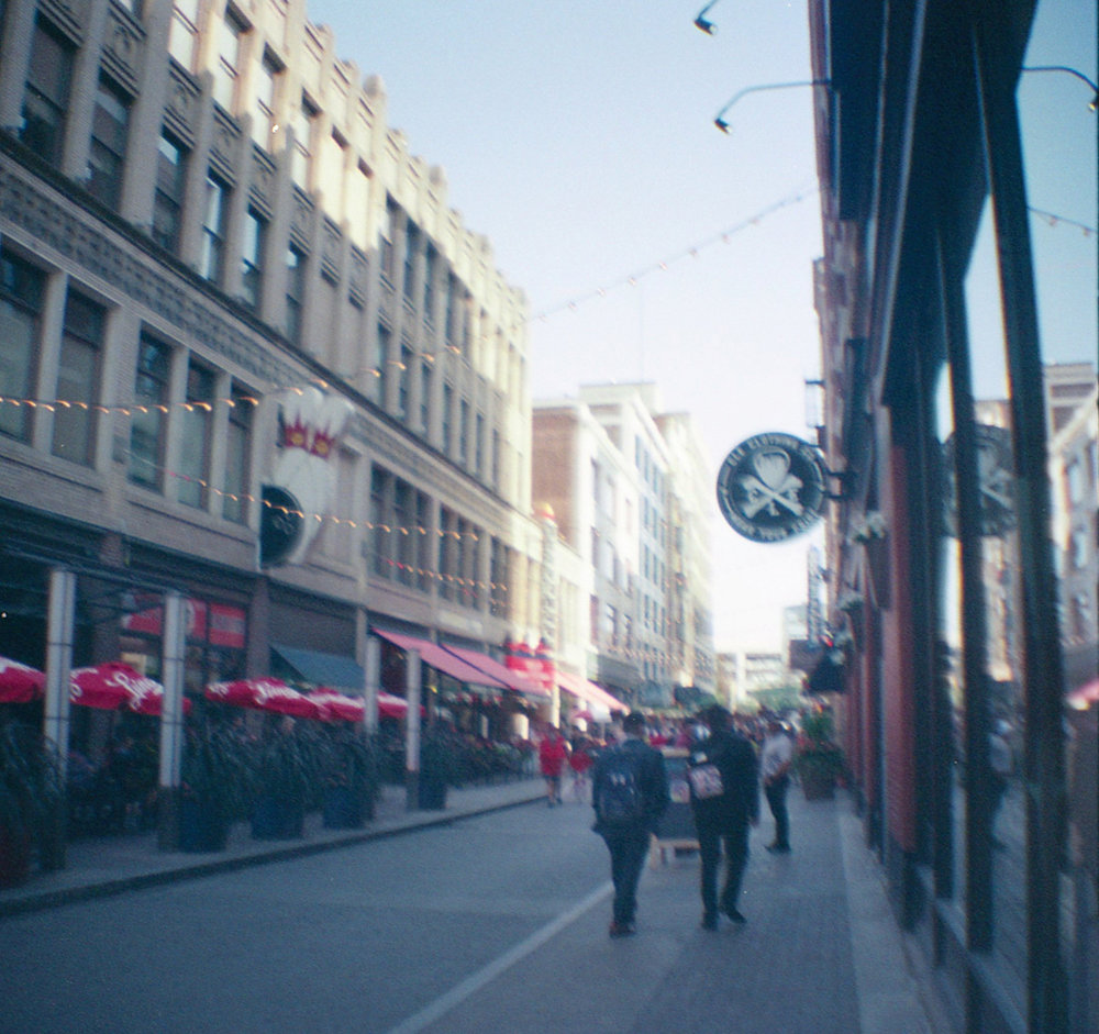 35mm film photos of downtown Cleveland