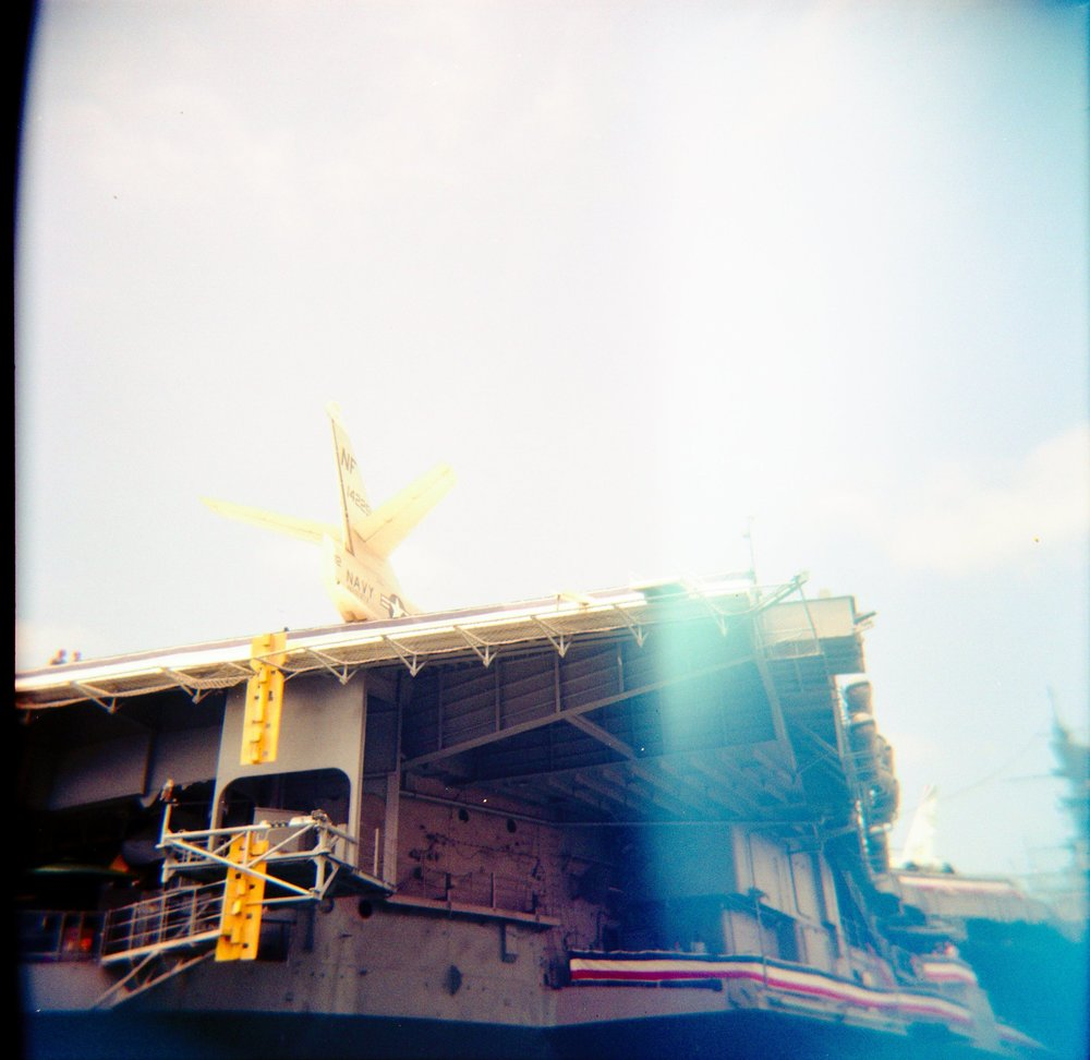 film photo of the USS Midway