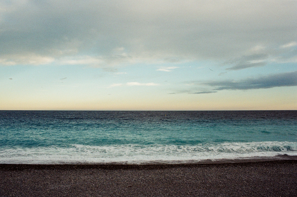photo of the mediterranean sea on 35mm film