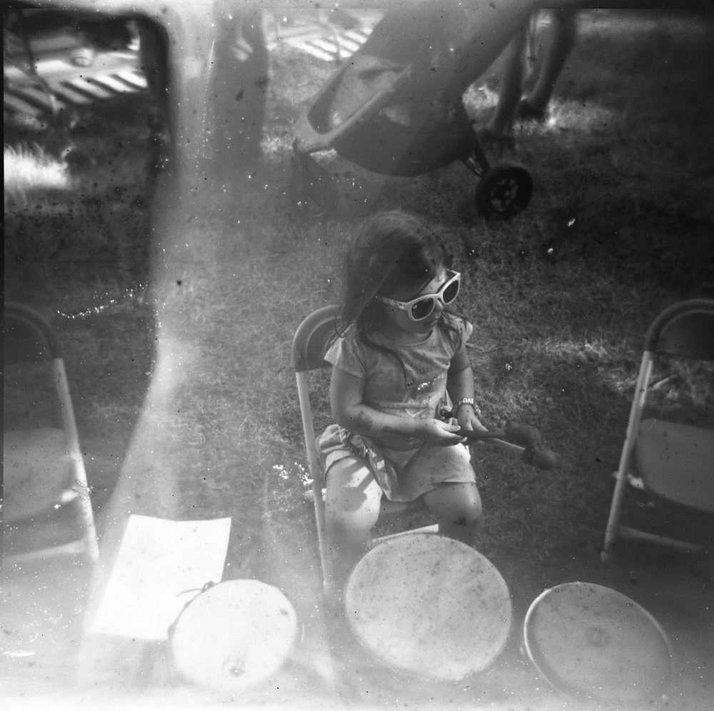 Holga and black and white film soup