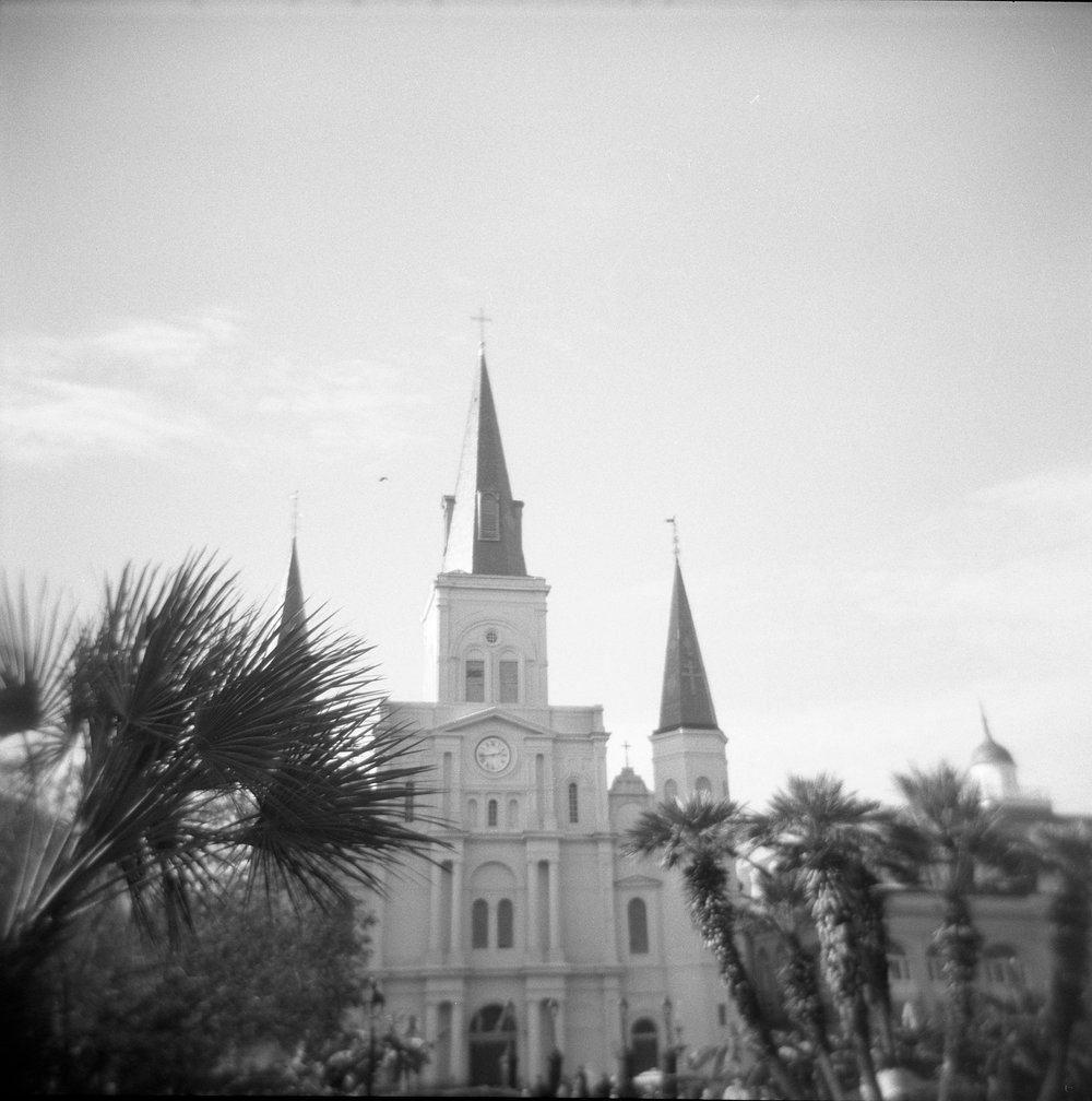 New Orleans black and white medium format photo
