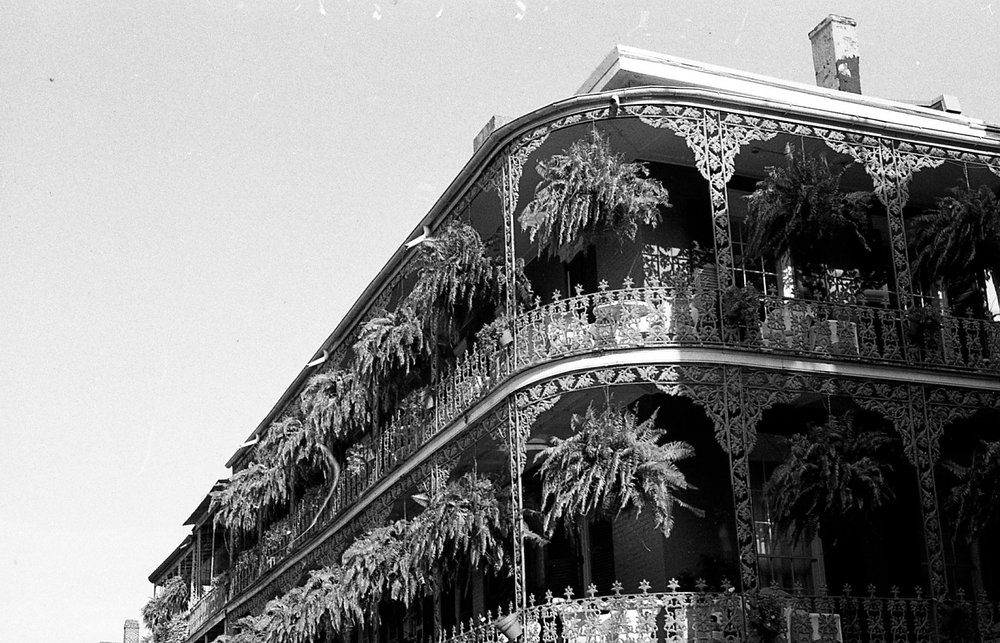 New Orleans black and white film photograph
