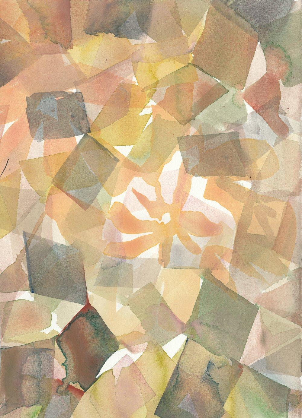 """Sun Dapple""  16.5"" height x 12.25"" width #001"