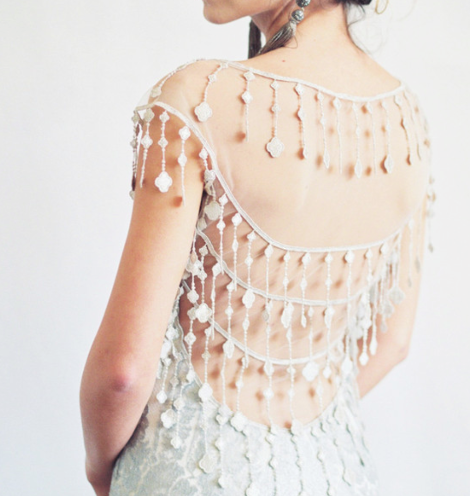 Denver Bride Wearing Claire Pettibone - Antique jewels and gowns flown in from the runways of New York..