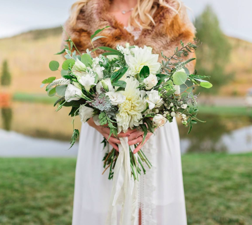Fall Colorado Private Ranch Wedding - White on white was the story of the day..